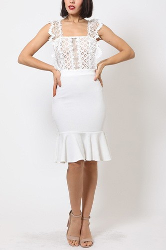 Midi mermaid skirt dress-id.cc40273