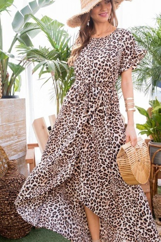 Leopard over wrap waist belted maxi dress-id.cc40278