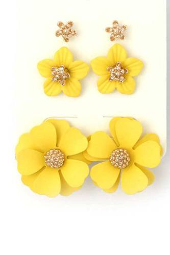 Flower stud earring set-id.cc40287