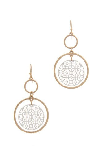 Double circle drop earring-id.cc40289