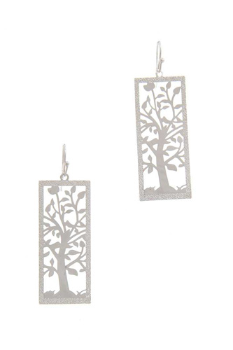 Cut out tree brass drop earring-id.cc40290