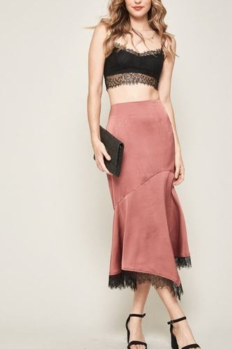 A solid woven midi skirt-id.cc40341a