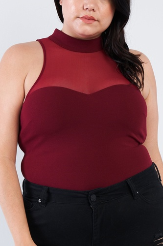 Plus size mock turtleneck bodysuit-id.cc40380a
