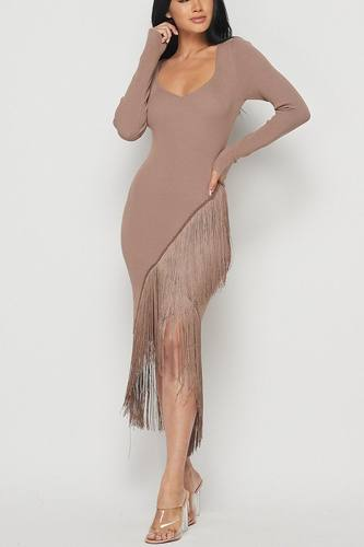 Long sleeve fringe dress-id.cc40400