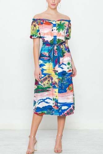A printed woven dress-id.cc40405