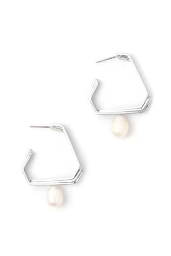 Pearl dangle drop earring-id.cc40417