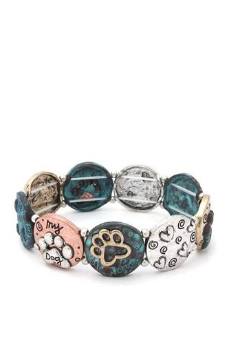 Two tone paw stretch bracelet-id.cc40423