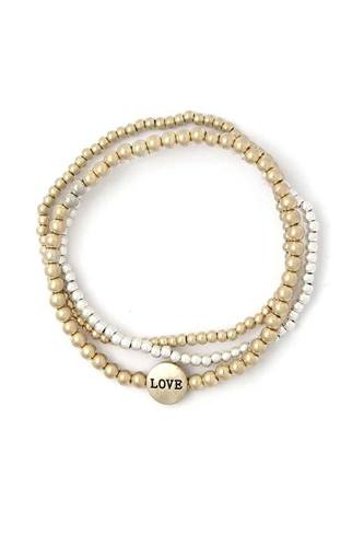 Love beaded stackable bracelets-id.cc40424