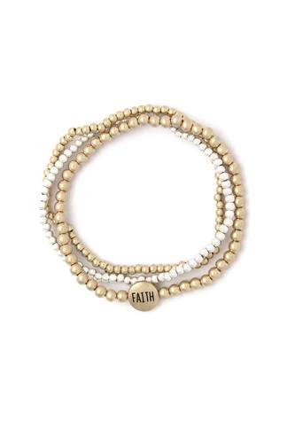 Faith beaded stackable bracelets-id.cc40425