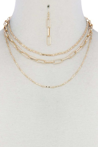 Metal layered necklace-id.cc40428