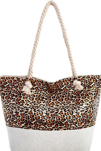 Holographic leopard print tote bag-id.cc40432