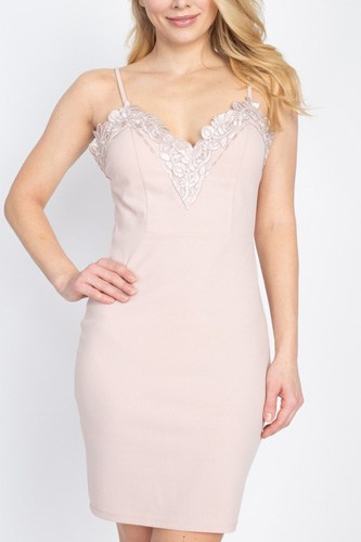 Floral lace embroidered mini dress-id.cc40460