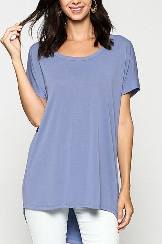 Scoop neckline cupro solid top-id.cc40471