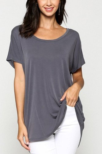 Scoop neckline cupro solid top-id.cc40471a