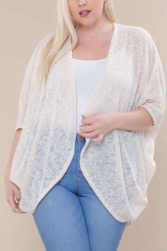 Open front cardigan back v-neck kimono sleeves-id.cc40477a