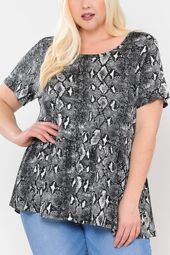 Camo print with babydoll short sleeve top-id.cc40479b