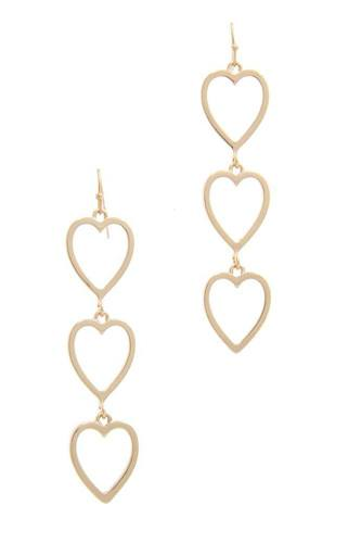 Cut out heart shape dangle drop earring-id.cc40489
