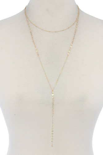 Metal y shape necklace-id.cc40497