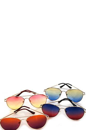 Designer two color tint aviator sunglasses-id.cc40509