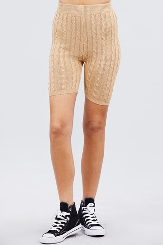 Twisted effect bermuda length sweater shorts-id.cc40525a