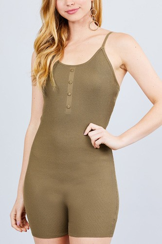 Round neck button detailed cami sweater romper-id.cc40526b