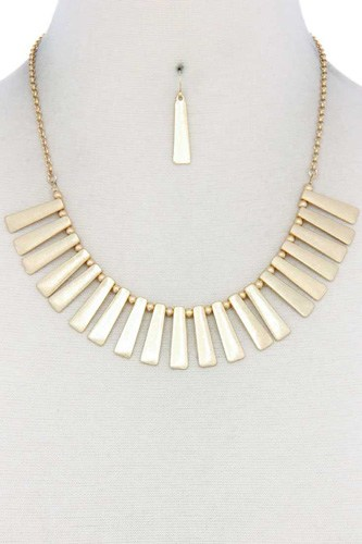 Metal bar bib necklace-id.cc40553