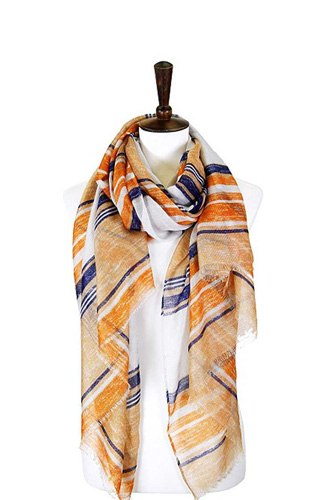 Striped lurex oblong scarf-id.cc50577