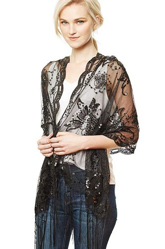 Flower sequin party shawl scarf-id.cc50580
