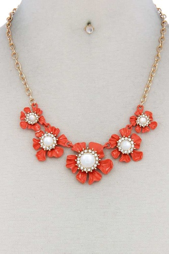 Floral pearl bead necklace-id.cc50622