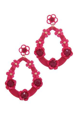 Floral post drop earring-id.cc50627