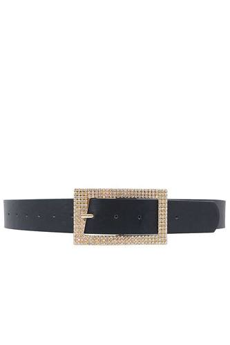 Fashion rhinestone square buckle belt-id.cc50645