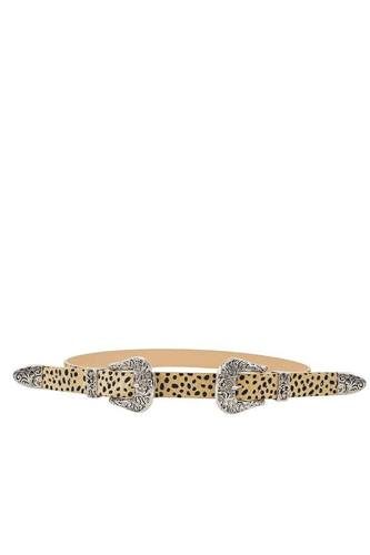 Trendy stylish leopard double buckle belt-id.cc50647