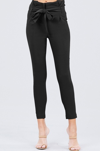 High waisted belted pegged stretch pant-id.cc50664a