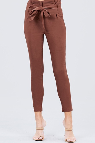 High waisted belted pegged stretch pant-id.cc50664c