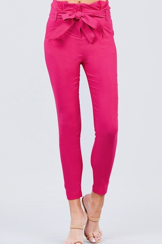 High waisted belted pegged stretch pant-id.cc50664d