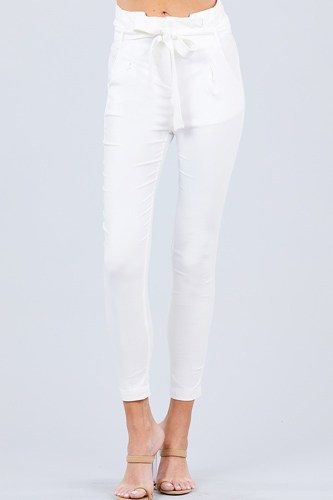 High waisted belted pegged stretch pant-id.cc50664e