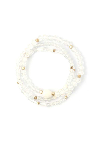 Fresh water pearl beaded stackable bracelet set-id.cc50715