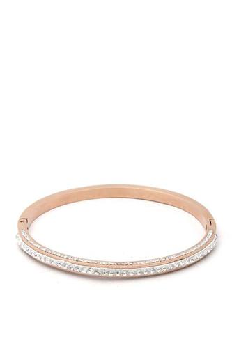Pave rhinestone stainless steel bangle-id.cc50716