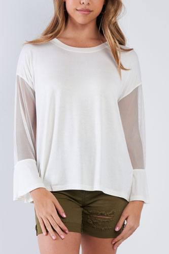 Long mesh sleeve top-id.cc50831a