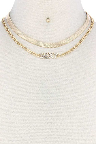 Sexy flat snake chain necklace-id.cc50864
