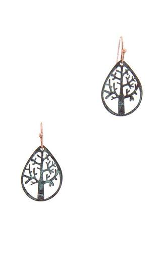 Oak tear drop shape earring-id.cc50870
