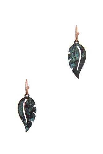 Leaf shape drop earring-id.cc50871