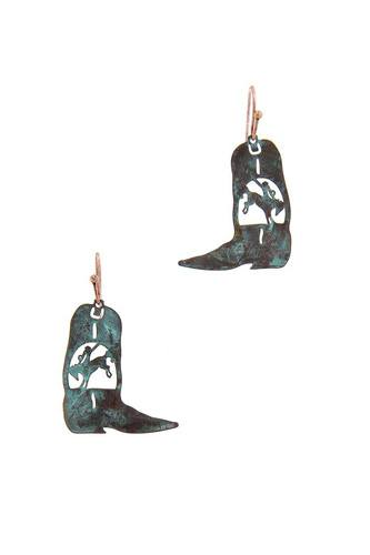 Cowboy boot earring-id.cc50872