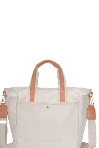 2in1 designer canvas fabric satchel with long strap-id.cc50882