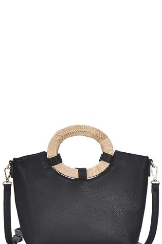 Chic fashion natural woven handle satchel with long strap-id.cc50883