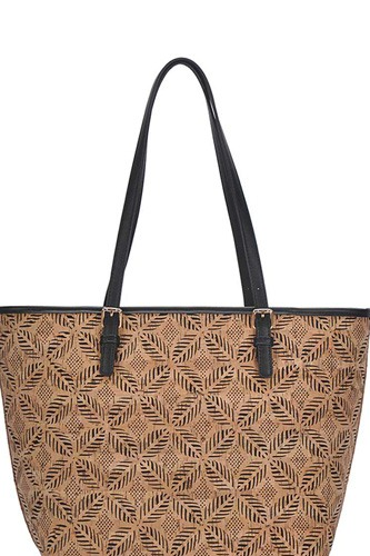 Chic trendy cork textured fashion pattern shopper bag-id.cc50887