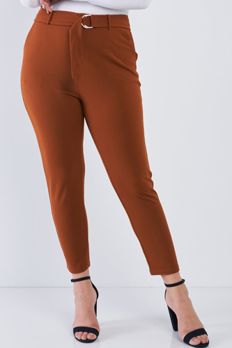 Plus size high waisted ankle length pants-id.cc50898a