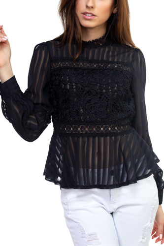 Shadow stripe embroidered shirt-id.cc50905