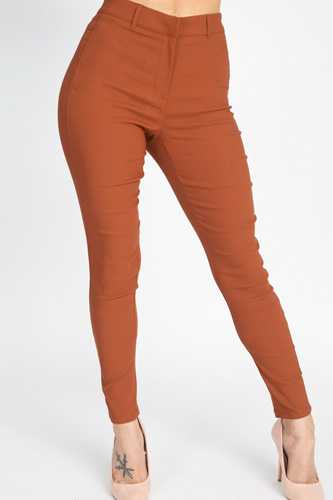 High rise solid skinny pants-id.cc50910b
