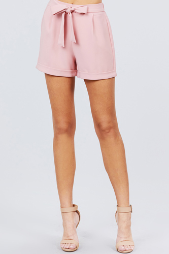 Front tie w/elastic band short pants-id.cc50919